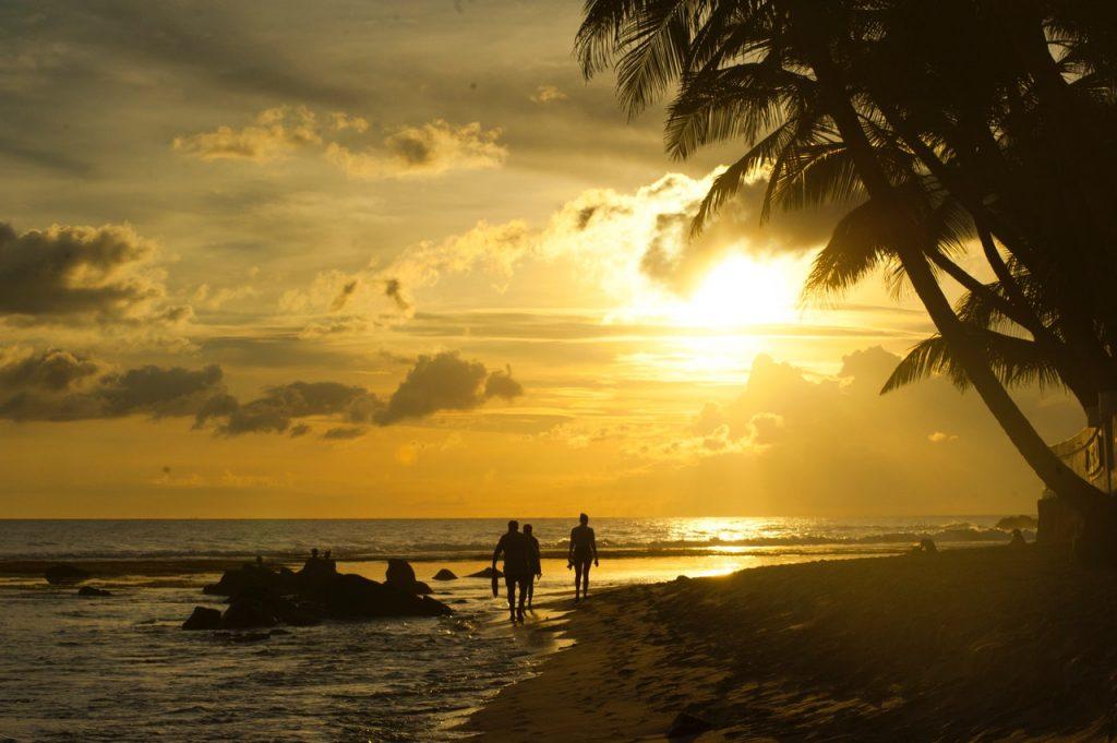 romantic views at the beach