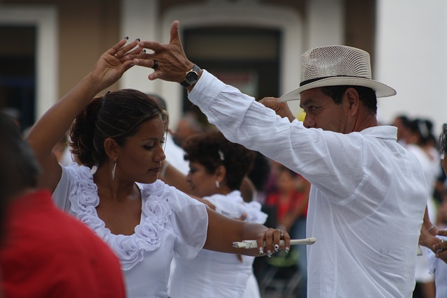 couple dancing danzon
