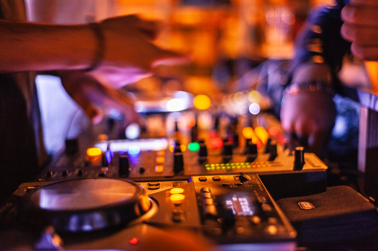 DJ and music at night