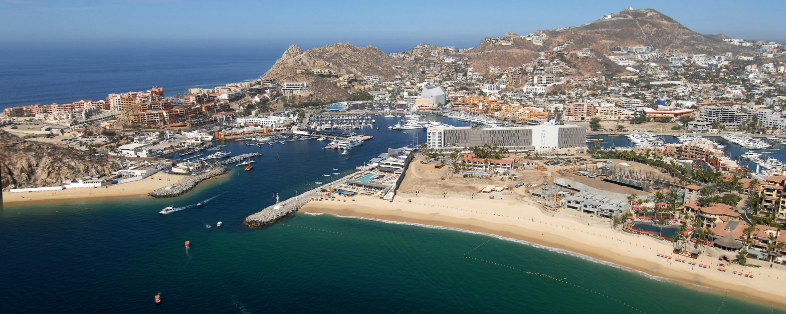 Beach and city in Cabo San Lucas