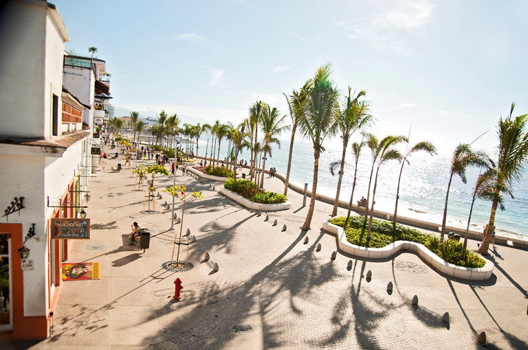 Famous Malecon in Puerto Vallarta, Mexico