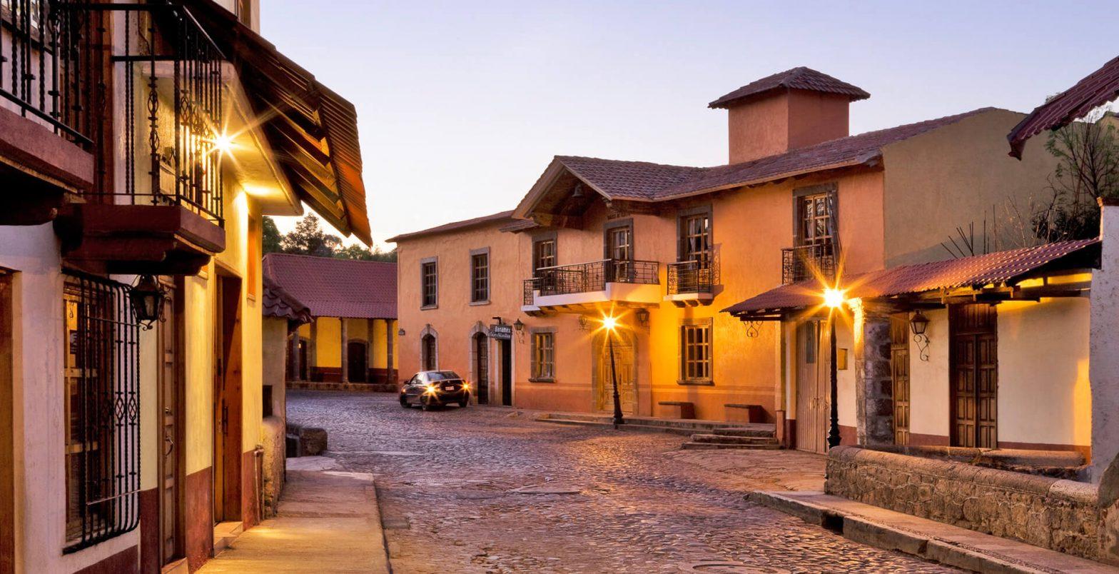 Town of Huasca de Ocampo in Hidalgo