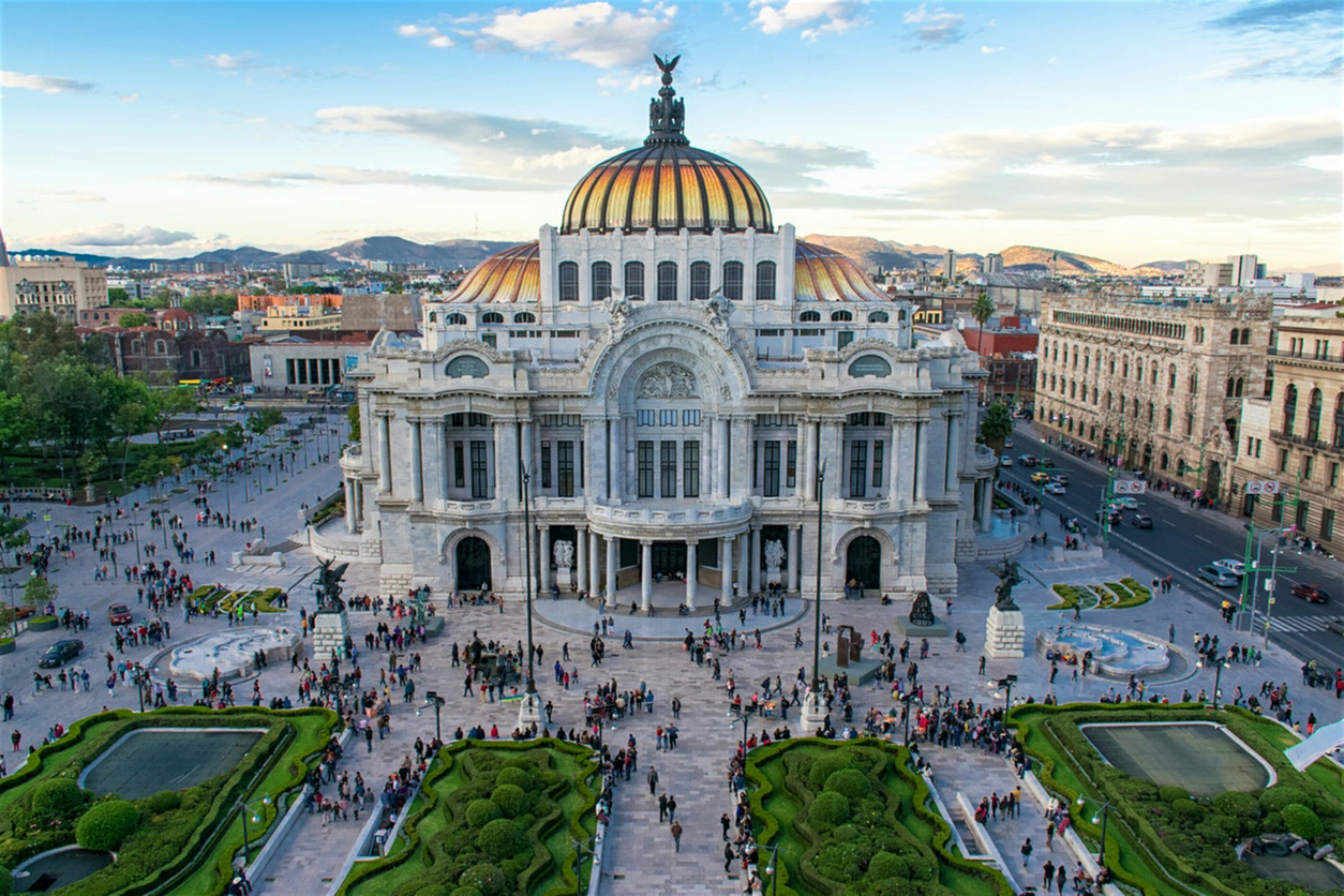 Palace of Bellas Artes in Mexico City