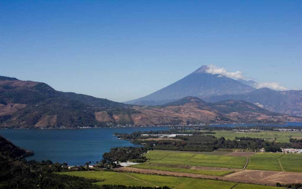 Amatitlan lake one of the most prettiest lakes in Guatemala